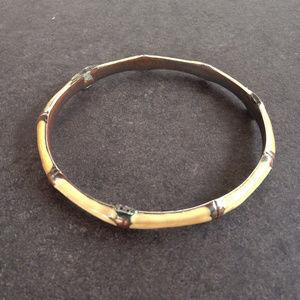 Vintage Artisan Copper and Enamel Bracelet